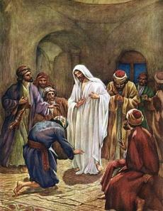 Jesus Appears to the Disciples - watercolor by William Brassey Hole