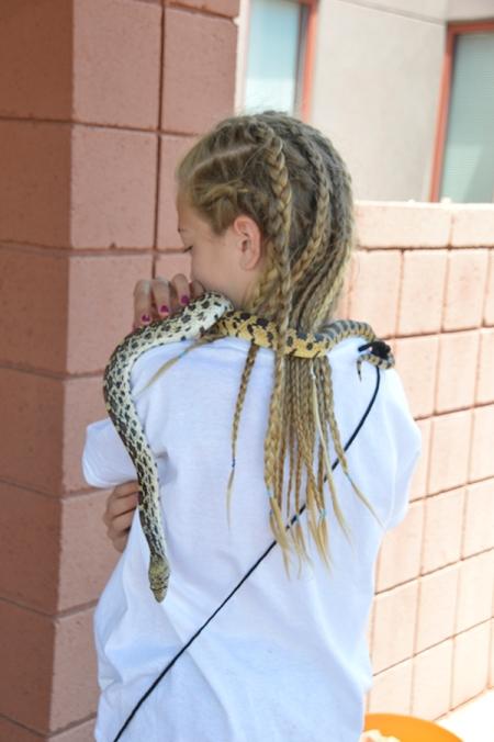 Snake over shoulders