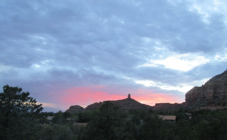 Sunset over Chimney Rock
