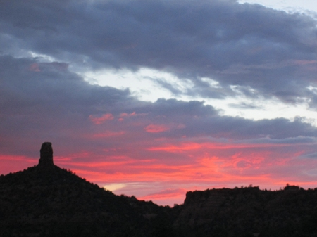 Sunset and Chimney Rock