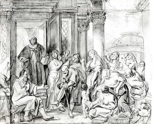 Saint Philip Healing the Cripple in Samaria Jacob Jordaens  (Flemish, Antwerp 1593–1678 Antwerp)