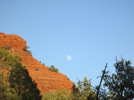 The moon near Sugarloaf