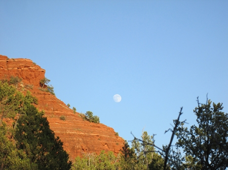 The moon near Sugarloaf