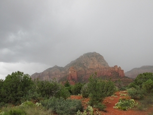 Rain cloud over Thunder Mountain